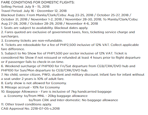 Philippine Airlines Seat Sale