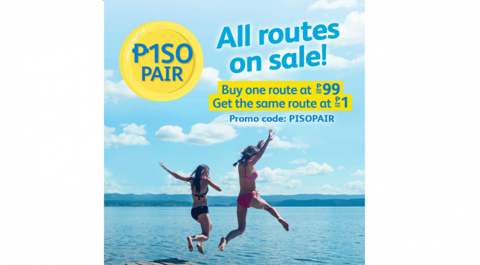 "#SEATSALE: Cebu Pacific ""PISOPAIR"" (₱99 + ₱1)! All Routes on SALE!"