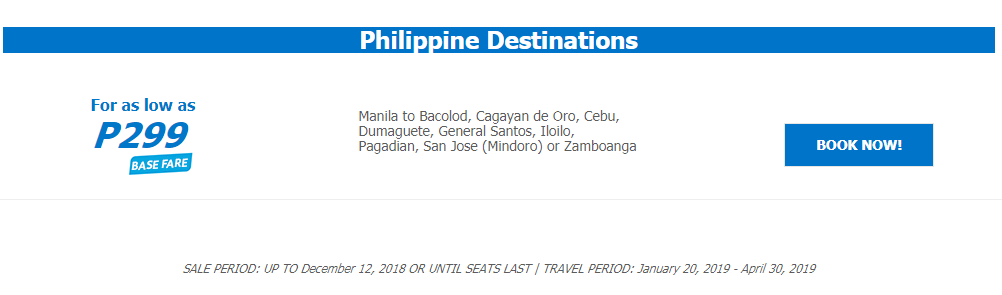#SEATSALE: Cebu Pacific SNAP Sale for as low as 299!