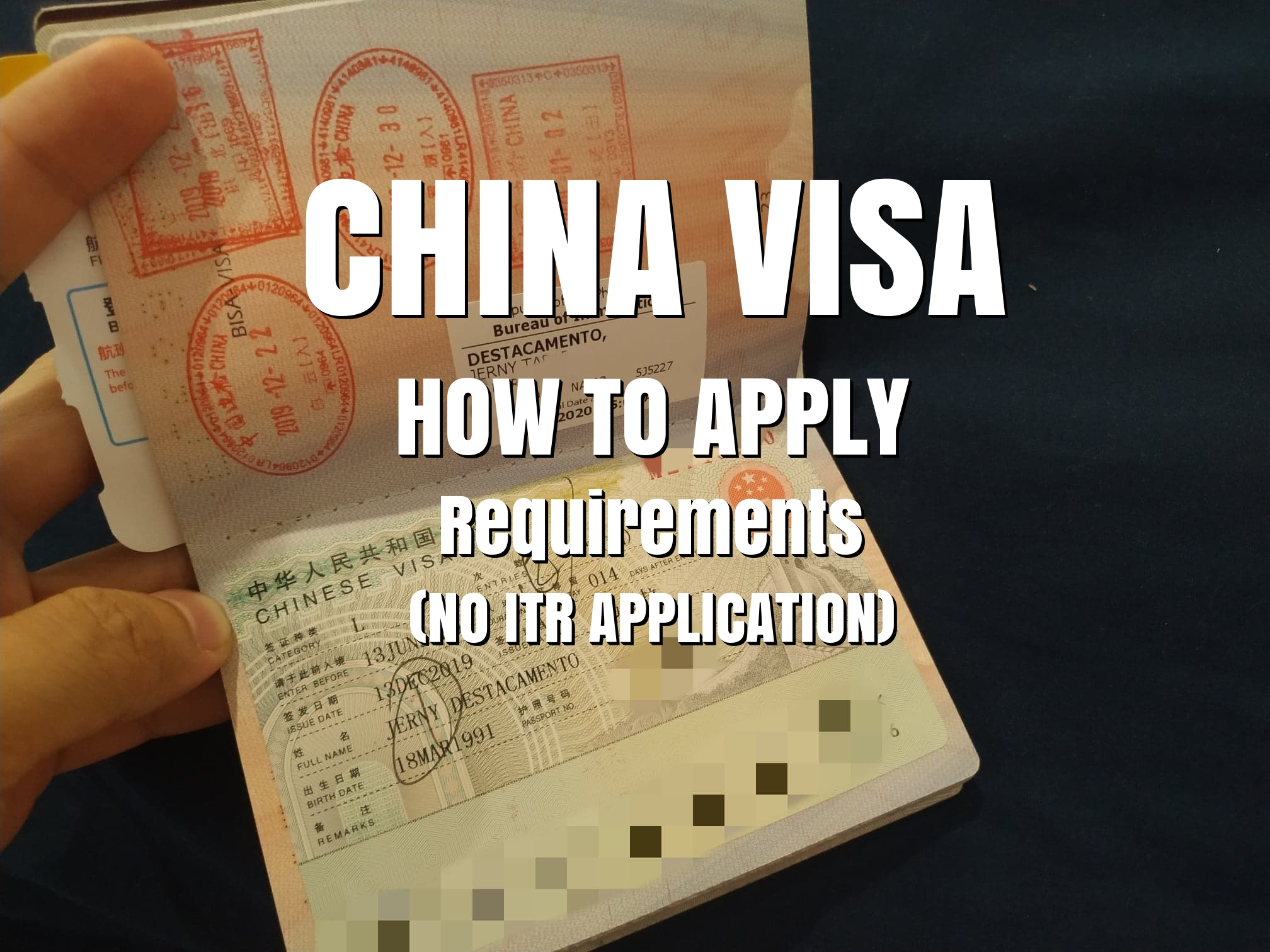 How To Apply For China Visa With No Itr Requirements The Jerny Travel And Inspirations
