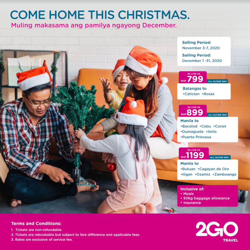 2GO Travel Promo: Come Home This Christmas For ₱799, Sail Next Year For Only ₱99